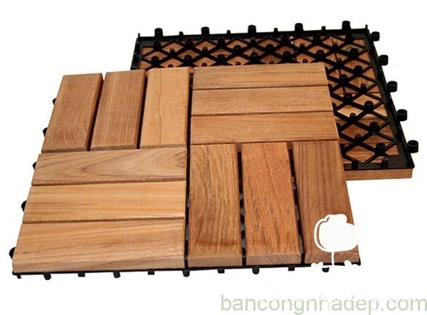 vật liệu gỗ sàn ban công