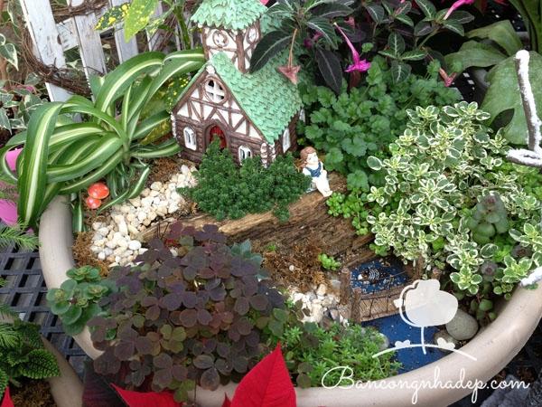 khu vườn nhỏ nhắn