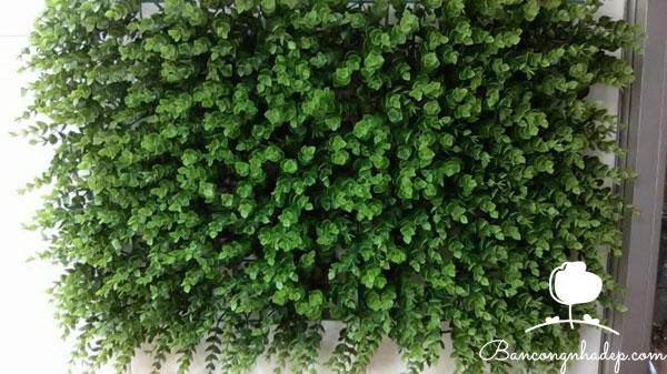 tường cỏ giả trang trí ban công