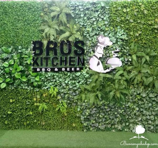 tường cỏ giả trang trí sảnh