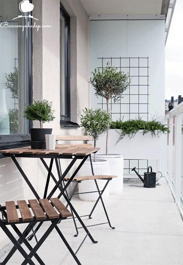 thiết kế ban công chung cư hiện đại