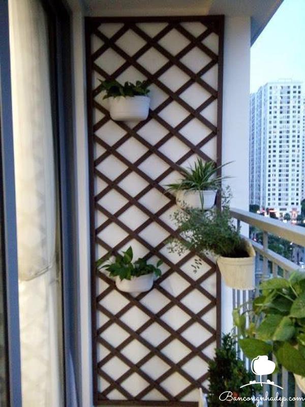 thiết kế ban công chung cư giàn hoa