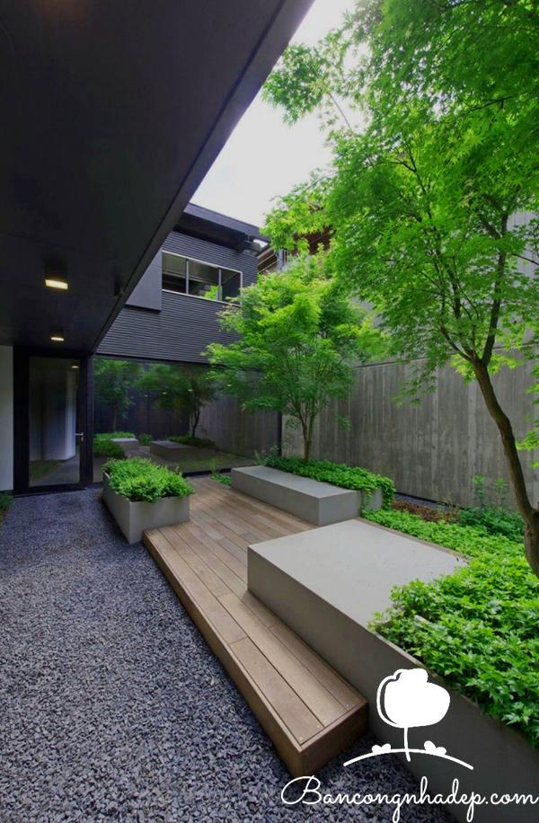 thiết kế ban công sân vườn